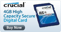Crucial Technology 4GB High Capacity Secure Digital Card