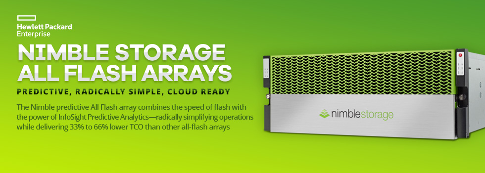 Nimble Storage All Flash Arrays