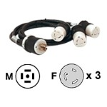 Power cable - NEMA L5-20 (F) to NEMA L21-20 (M) - black