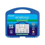 eneloop K-KJ17MCC82A - Battery charger - 6-7 hr - 4xAA/AAA - included batteries: 8 x AA type NiMH 2000 mAh - 300 mA - with 2 x AAA NiMH batteries