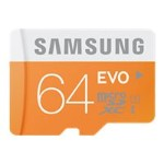 Samsung EVO MB-MP64D - Flash memory card - 64 GB - UHS Class 1 / Class10 - microSDXC UHS-I MB-MP64DB/AM