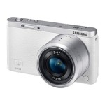 SMART Camera NX mini - Digital camera - High Definition - mirrorless system - 20.5 MP - 3 x optical zoom NX-M 9-27mm lens - Wi-Fi, NFC - white - with  SEF7A Flash