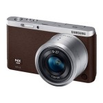 SMART Camera NX mini - Digital camera - High Definition - mirrorless system - 20.5 MP - 3 x optical zoom NX-M 9-27mm lens - Wi-Fi, NFC - brown - with  SEF7A Flash