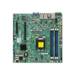 SUPERMICRO X10SLM+-LN4F - Motherboard - micro ATX - LGA1150 Socket - C224 - USB 3.0 - 4 x Gigabit LAN - onboard graphics