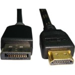 15ft HDMI to Displayport Cable Male-Male Black