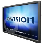 "46"" Class LED display - digital signage - with touchscreen - 1080p (Full HD) - black"