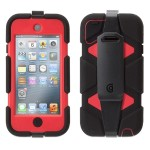 Survivor Carrying Case for iPod - Black, Red