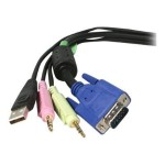 Lenovo StarTech.com 4-in-1 USB VGA KVM Switch Cable with Audio and Microphone - keyboard / video / mouse / audio cable - 6 ft 78004178