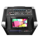 Karaoke Vibe Bluetooth Multimedia PA System with 10'' Woofer, 7'' Screen, Multimedia Disc Player, VHF Wireless Microphone, 400 Watt