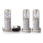 Panasonic KX-TGD223N - Cordless phone - answering system with caller ID/call waiting - DECT 6.0 Plus + 2 additional handsets KX-TGD223N