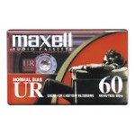 Maxell UR 60 - Cassette x 60min - Normal BIAS ( pack of 2 ) 109024