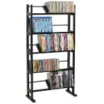 Element - Media storage - metal, wood - espresso DVD, CD, BD-ROM - floor-standing