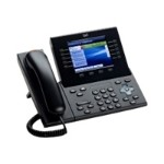 Unified IP Phone 8961 Slimline - VoIP phone - SIP, RTCP, SRTP - multiline - charcoal gray - refurbished