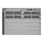 Aruba 5412-92G-PoE+-4G v2 zl - Switch - L4 - managed - 92 x 10/100/1000 (PoE) + 4 x SFP - rack-mountable - PoE - remarketed - with HP 5400 zl Switch Premium License