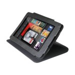Flip Leather - Case for tablet - genuine leather - for Amazon Kindle Fire