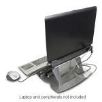Aluminum Laptop Stand - Promotes cooling & reduces fatigue & eyestrain - MacBook Pro Silver