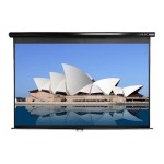 Manual Series M95UWC-E18 - Projection screen - ceiling mountable, wall mountable - 95 in (94.5 in) - 2.35:1 - MaxWhite - black