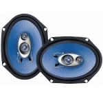Pyle 6'' x 8'' 360 Watt Three-Way Speakers - Pair PL683BL