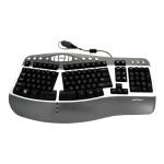 Silver Wave Ergo Waterproof - Keyboard - USB - US - silver, charcoal