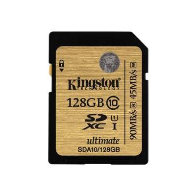 Kingston128GB SDXC Class 10 UHS-I Ultimate Flash Card(SDA10/128GB)