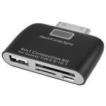 4-in-1 Connectivity Adapter - Connection module / card reader - for Samsung Galaxy Tab 10.1, Tab 10.1 WiFi, Tab 8.9, Tab 8.9 WiFi