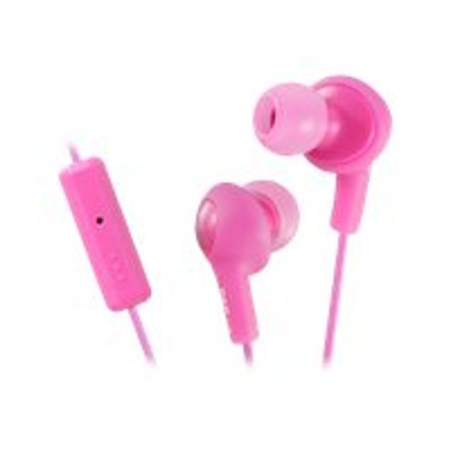 JVC HA-FR6 Gumy PLUS - Earphones with mic - in-ear - wired - noise  isolating - peach pink - for Apple iPod nano (6G) (HAFR6P) 4a04a56822