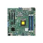 SUPERMICRO X10SLM-F - Motherboard - micro ATX - LGA1150 Socket - C224 - USB 3.0 - 2 x Gigabit LAN - onboard graphics