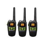Talkabout MD200TPR - Portable - two-way radio - FRS/GMRS - 22-channel - black (pack of 3)