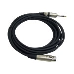 pro PPMJL15 - Microphone cable - mono jack (M) to XLR3 (F) - 15 ft