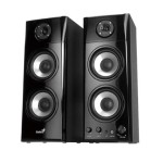 Genius SP-HF1800A 50W RMS 3-Way Wood Speakers for Mac, PC, Stereo or Television -  Black 31730936100