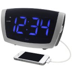 La Crosse Technology LED Digital Alarm with 1.8 Inch Blue LED Display 75904