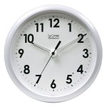 "Illuminated 10"" Clock - White Frame"