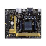 A58M-E - Motherboard - micro ATX - Socket FM2+ - AMD A58 - Gigabit LAN - onboard graphics (CPU required) - HD Audio (8-channel)