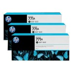 HP Inc. 771A Tri-pack - 3-pack - 775 ml - matte black - original - ink cartridge - for DesignJet Z6200, Z6600 Production Printer, Z6800 Photo Production Printer B6Y39A
