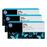 HP Inc. 771A Tri-pack - 3-pack - 775 ml - chromatic red - original - ink cartridge - for DesignJet Z6200 B6Y40A