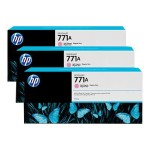HP Inc. 771A Tri-pack - 3-pack - 775 ml - light magenta - original - ink cartridge - for DesignJet Z6200 B6Y43A