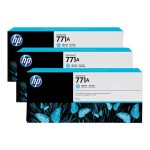 HP Inc. 771A Tri-pack - 3-pack - 775 ml - light cyan - original - ink cartridge - for DesignJet Z6200, Z6600 Production Printer, Z6800 Photo Production Printer B6Y44A