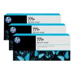HP Inc. 771A Tri-pack - 3-pack - 775 ml - photo black - original - ink cartridge - for DesignJet Z6200, Z6600 Production Printer, Z6800 Photo Production Printer B6Y45A
