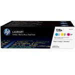 128A 3-pack Cyan/Magenta/Yellow Original LaserJet Toner Cartridges