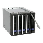 """FatCage MB155SP-B - Storage drive cage with cooling fan - 3.5"""" - black"""