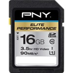 PNY Elite Performance 16GB SDHC UHS-1 Class 10 Flash Card 90MB/s P-SDH16U1H-GE
