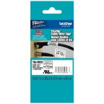"Brother 12mm (0.47"") Black on White Flexible ID Tape 8m (26.2 ft) TZEFX231"