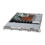 "Supermicro SuperServer 6015B-8B - Server - rack-mountable - 1U - 2-way - RAM 0 MB - SATA - hot-swap 3.5"" - no HDD - DVD - ATI ES1000 - GigE - monitor: none"