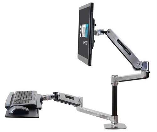 Pcm Ergotron Workfit Lx Sit Stand Desk Mount System