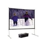 Da Lite Fast-Fold Deluxe Screen System - Projection screen - 1:1 - Da-Mat 88604