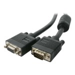 StarTech.com Coax High Resolution VGA Monitor Extension Cable - VGA extension cable - HD-15 (M) to HD-15 (F) - 100 ft - molded - for P/N: ST128UTPEAGB, ST122VGAU, ST128WGB, ST124WGB, ST122WGB, ST128UTPEA, ST128W, ST124W, ST122W, ST128UTPE MXT101HQ_100