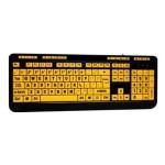 Luminous AKB-132UY - Keyboard - USB - black, yellow