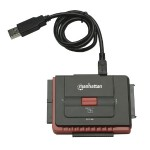Hi-Speed USB to SATA/IDE Adapter - 3-in-1 with One-Touch Backup