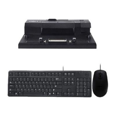 E-Port Replicator with KB212-B USB 104 Quiet Key Keyboard and MS111 USB 3-Button Optical Mouse