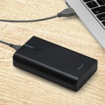 PowerPack T6600 1A/2.4A 6600mAh Portable Rechargeable Battery for iPhone, iPad & Smartphones - Black - Charge smartphones up to four times with one charge